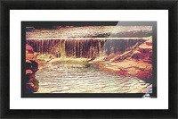 Medicine Park waterfall pic art Picture Frame print