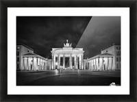 BERLIN Brandenburg Gate | Monochrome Picture Frame print