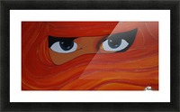 Veiled woman Red-orange-yellow Picture Frame print