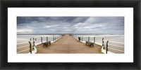 Dock With Benches, Saltburn, England Picture Frame print