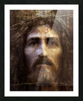 Christ face reconstruction Picture Frame print