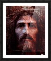 Christ face reconstruction claret Picture Frame print