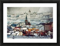 Budapest in wintertime Picture Frame print