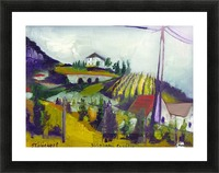 Vineyards on foothill Picture Frame print
