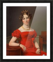 Portrait of Louise Christiane Fugl Picture Frame print