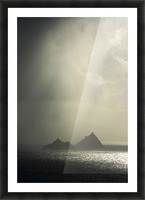 Skellig Islands, Co Kerry, Ireland; Islands In A Rain Shower Picture Frame print