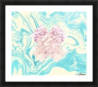 The X Marble File Picture Frame print