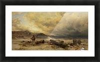 Caravan in a sandstorm Picture Frame print
