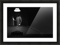 ; Mystery Pool Player Behind Rack Of Billiard Balls Picture Frame print
