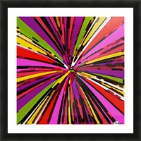psychedelic geometric graffiti line pattern in pink purple yellow green red Picture Frame print