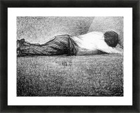 Man sleeping by Seurat Picture Frame print