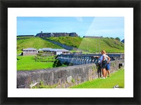 St Kitts Brimstone Hill 2 Picture Frame print
