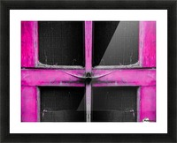 old pink wooden door abstract background Picture Frame print