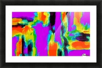 pink purple green orange black yellow and blue painting abstract background Picture Frame print