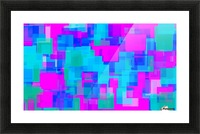 pink blue and green geometric square abstract background Picture Frame print