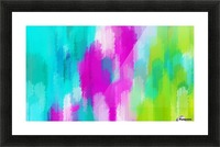 blue pink and green painting abstract background Picture Frame print