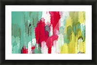 red green and yellow painting texture abstract background Picture Frame print