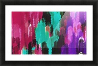 red pink purple green and black painting abstract background Picture Frame print