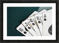 Close-Up Of Blackjack Playing Cards Showing Spades Royal Flush Picture Frame print