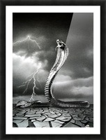 THE STORM IS COMING... Picture Frame print