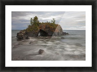Water Coming Into Shore Around A Rock Formation On Lake Superior; Grand Portage, Minnesota, United States Of America Picture Frame print