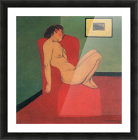 Nude in a Red Armchair by Felix Vallotton Picture Frame print