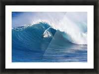 Hawaii, Maui, Peahi (Jaws), Surfer Rides A Giant Wave Picture Frame print