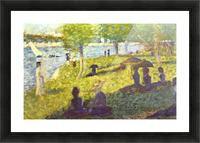 One Sunday on La Grande Jatte, draft by Seurat Picture Frame print