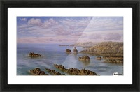 Southern Coast of Guernsey, 1875 Picture Frame print