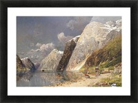 A river crossing the mountains Picture Frame print