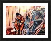 MR. GRUNT (homless man) Picture Frame print