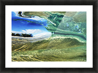 Hawaii, Oahu, Underwater View Of Wave. Picture Frame print