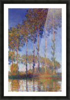 Poplars in the Epte, sunset by Monet Picture Frame print