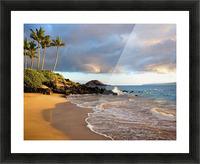 Hawaii, Maui, Makena, Secret Beach At Sunset. Picture Frame print