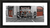 Seattle Fire Department Station 2, Ladder 4 C Colored Doors Picture Frame print