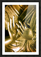 China, Buddha Hands Found On Hollywood Road; Hong Kong Picture Frame print