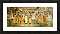 Seattle Pike Place Fish Market Picture Frame print
