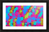 splash graffiti painting abstract in pink blue green Picture Frame print