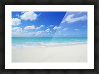 Northwestern Hawaiian Islands, Midway Atoll, Sand Island, Turquoise Ocean And White Sand Beach. Picture Frame print