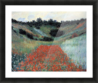 Poppy field in Giverny by Monet Picture Frame print