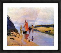 Port of Trouville by Monet Picture Frame print