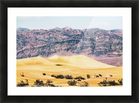 sand desert with mountain background at Death Valley national park, USA Picture Frame print