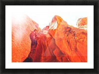 texture of the orange rock and stone at Antelope Canyon, USA Picture Frame print