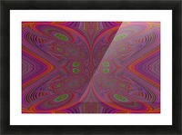 Digital Butterfly Purple Orange  Picture Frame print