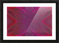 Digital Butterfly Pink Red  Picture Frame print