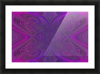 Digital Butterfly Purple Pink  Picture Frame print