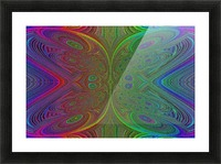 Digital Butterfly Rainbow 1 Picture Frame print