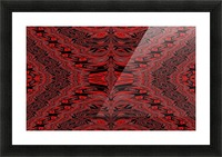 Red Velvet Butterfly Picture Frame print