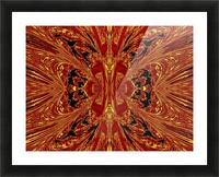 Red Yellow Butterfly Picture Frame print