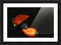 Strawberry Picture Frame print